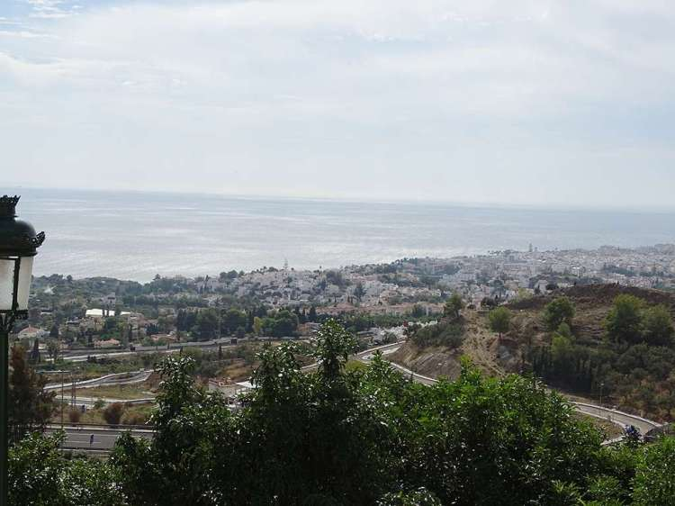 The view over Nerja and the Mediterranean beyond